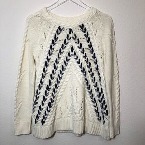 Knitted & Knotted Anthropologie Pull Over Sweater